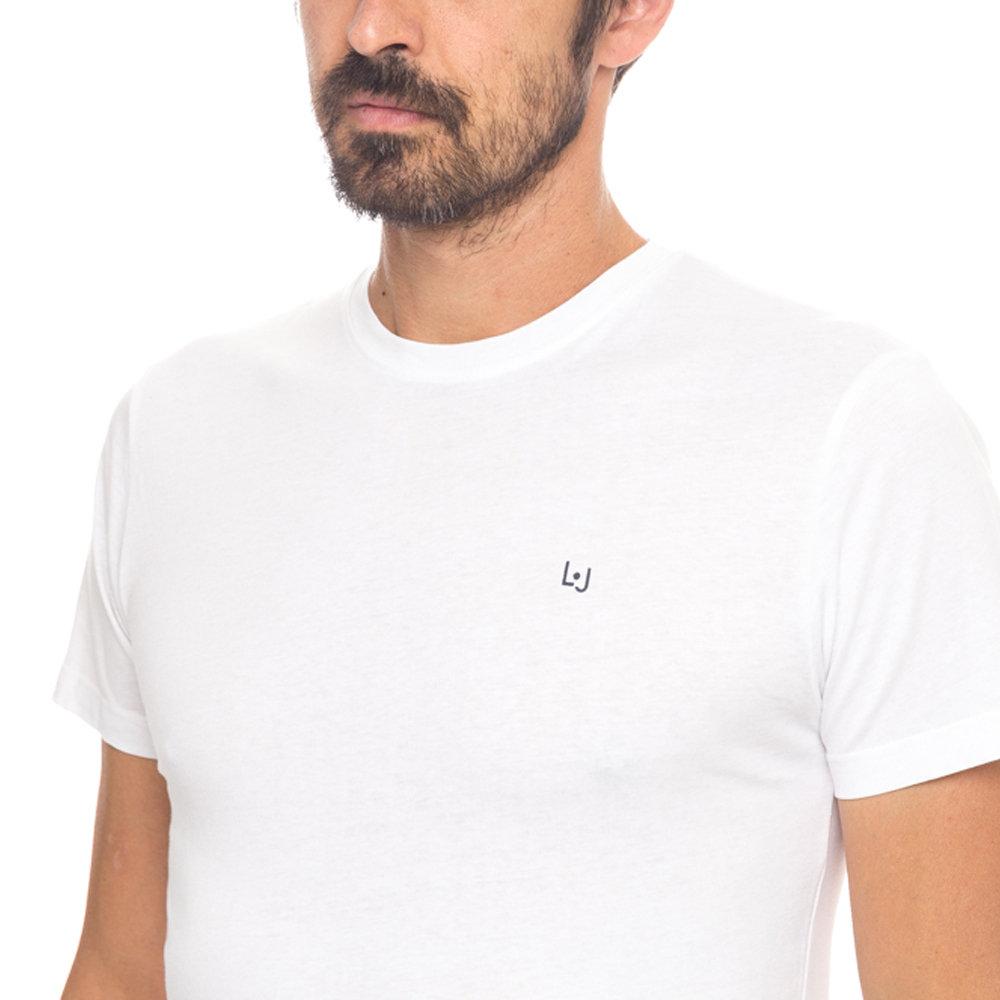 T-shirt basic girocollo bianca - Liu Jo Uomo A I - Acquista su Ventis. fbd1fb4ba7b
