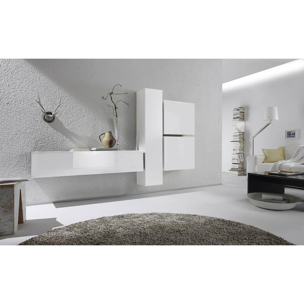 Mobili Soggiorno Kit : Mineral design tft set mobili da soggiorno bianco lucido