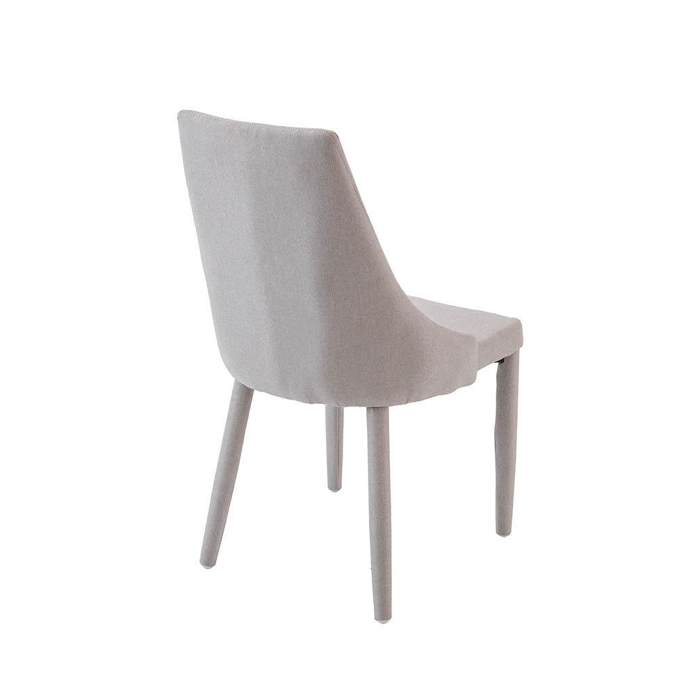 Set 4 sedie in tessuto tortora mineral design tft for Sedie design tessuto