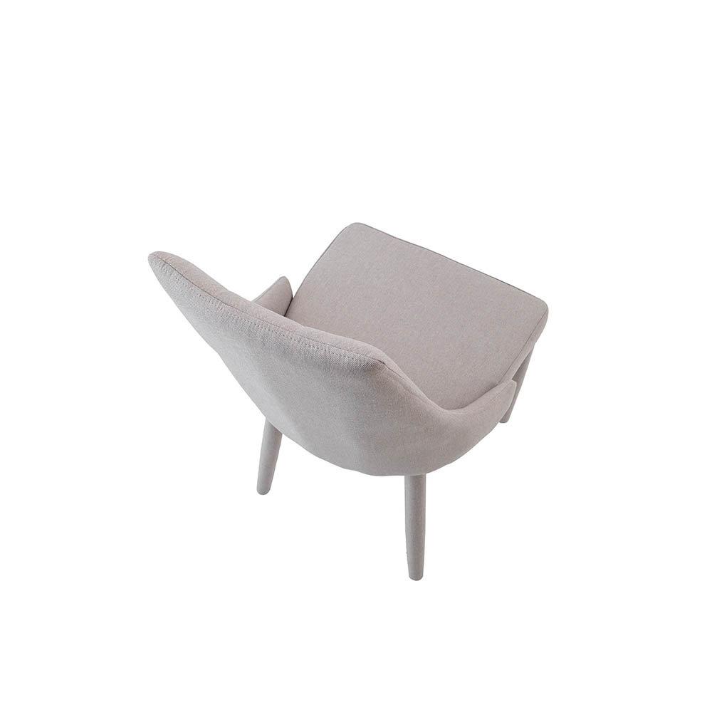 Set 4 sedie in tessuto tortora mineral design tft for Sedie design tortora