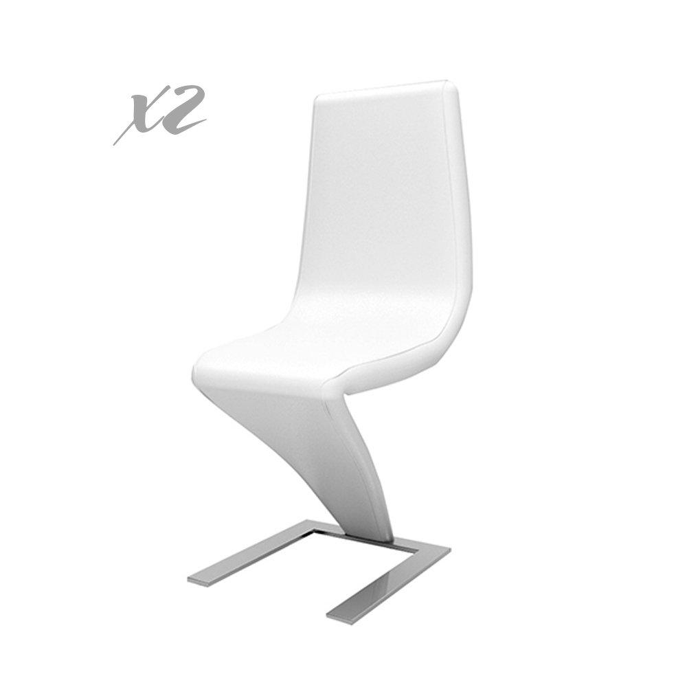 Set 2 sedie in pelle bianca - Mineral Design TFT - Acquista su Ventis.