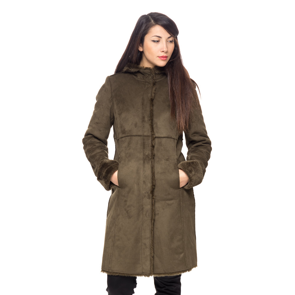 wholesale dealer 555f7 df38a Eco montone lungo verde militare - Liu Jo Donna A/I - Acquista su Ventis.