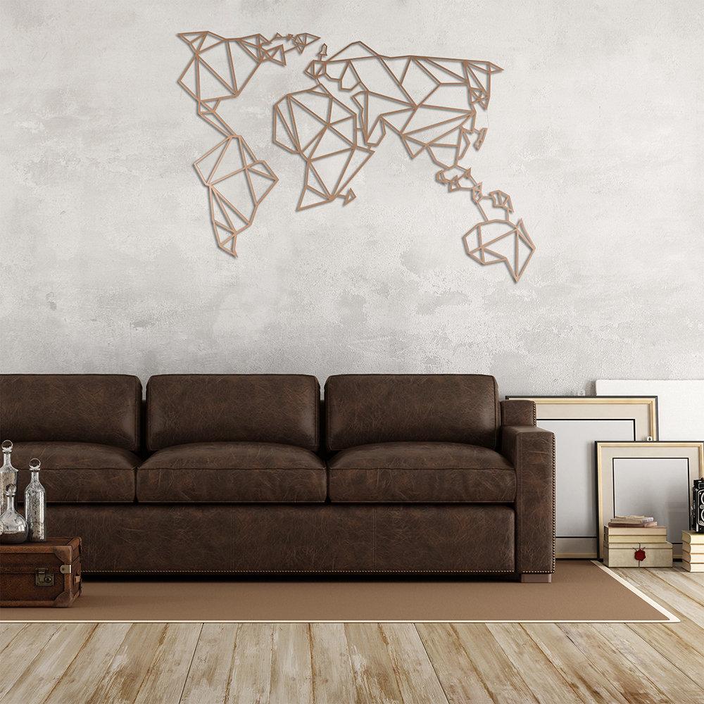 Decorazioni Da Muro.Decorazione Da Muro In Metallo World Rame Decorazioni Irrinunciabili Acquista Su Ventis