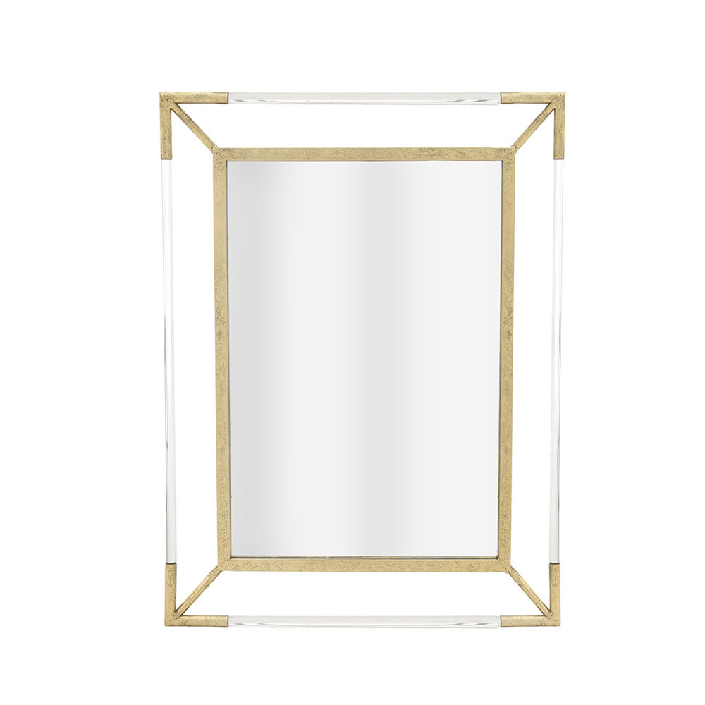 Specchio da parete rettangolare oro golden home for Specchi conforama