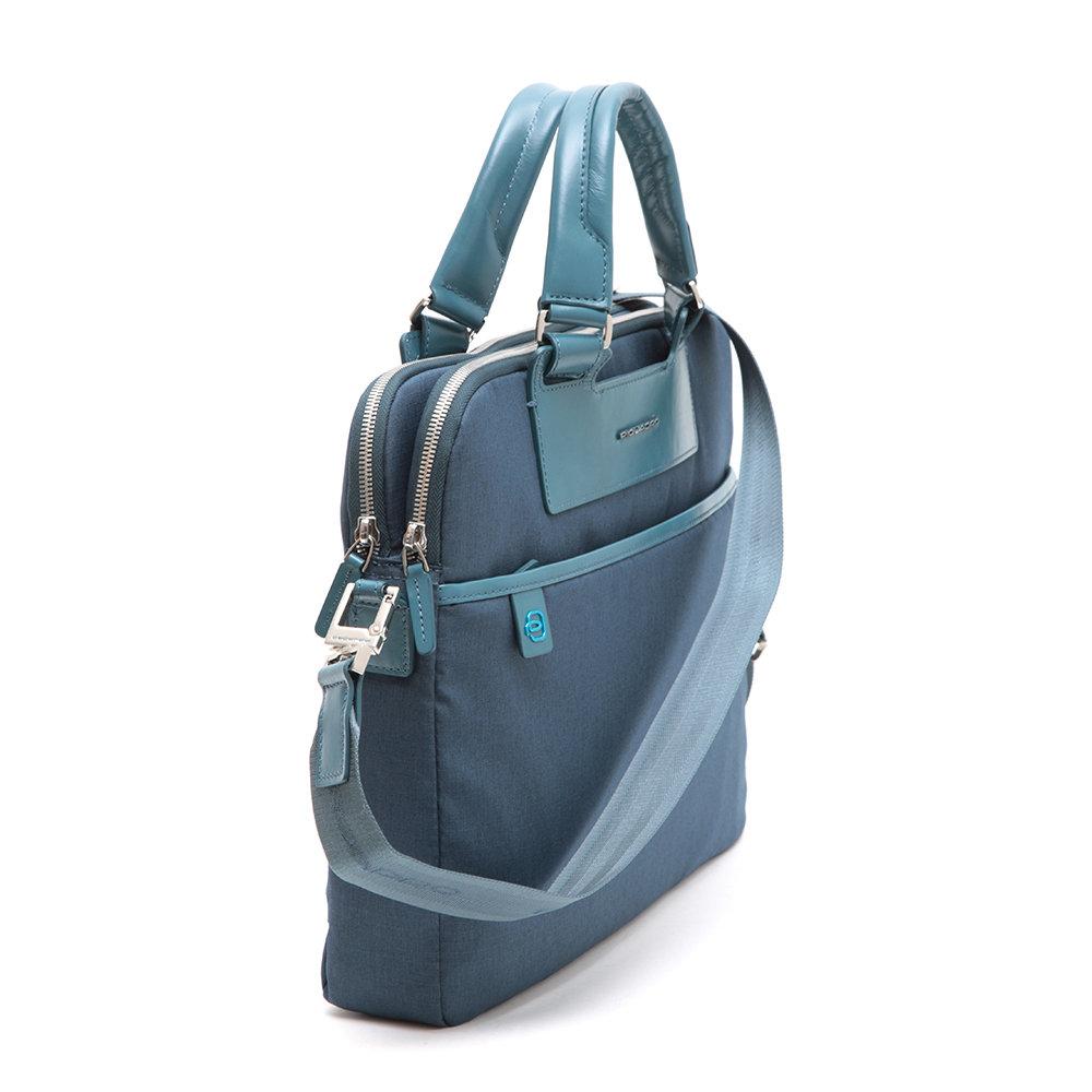 Cartella a due manici blu - Piquadro - Acquista su Ventis. b39e225c59a