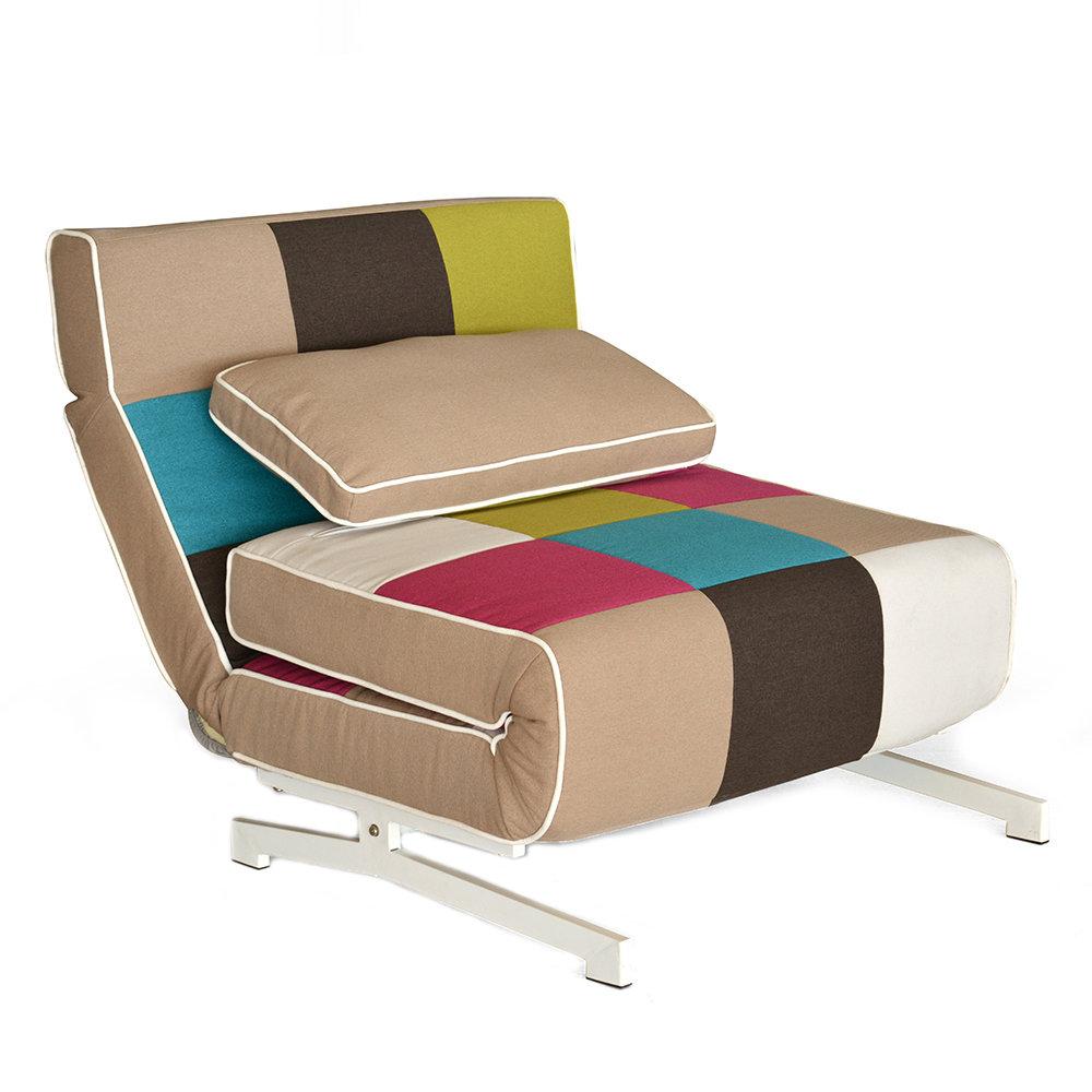 Poltrona letto super quadri multicolore comfort pratico cribel acquista su ventis - Poltrona letto city ...