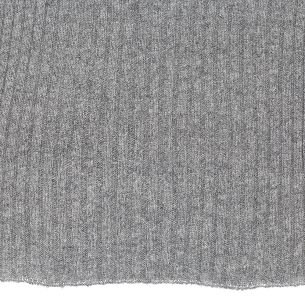 Sciarpa e berretto a trama larga grigio chiaro - FLORENCE OF ... 3f8165717944