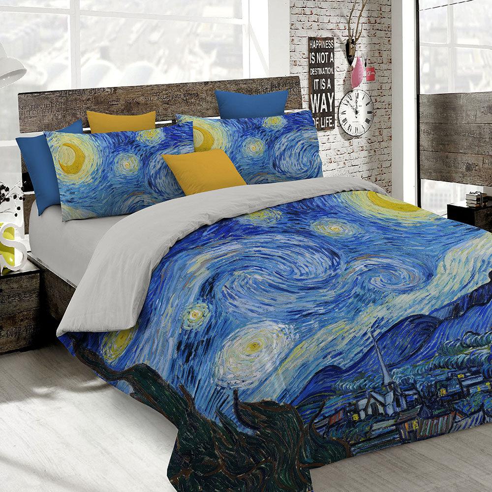 Copripiumino Van Gogh.Parure Copripiumino Con Stampa In Digitale Van Gogh 2 Piazze