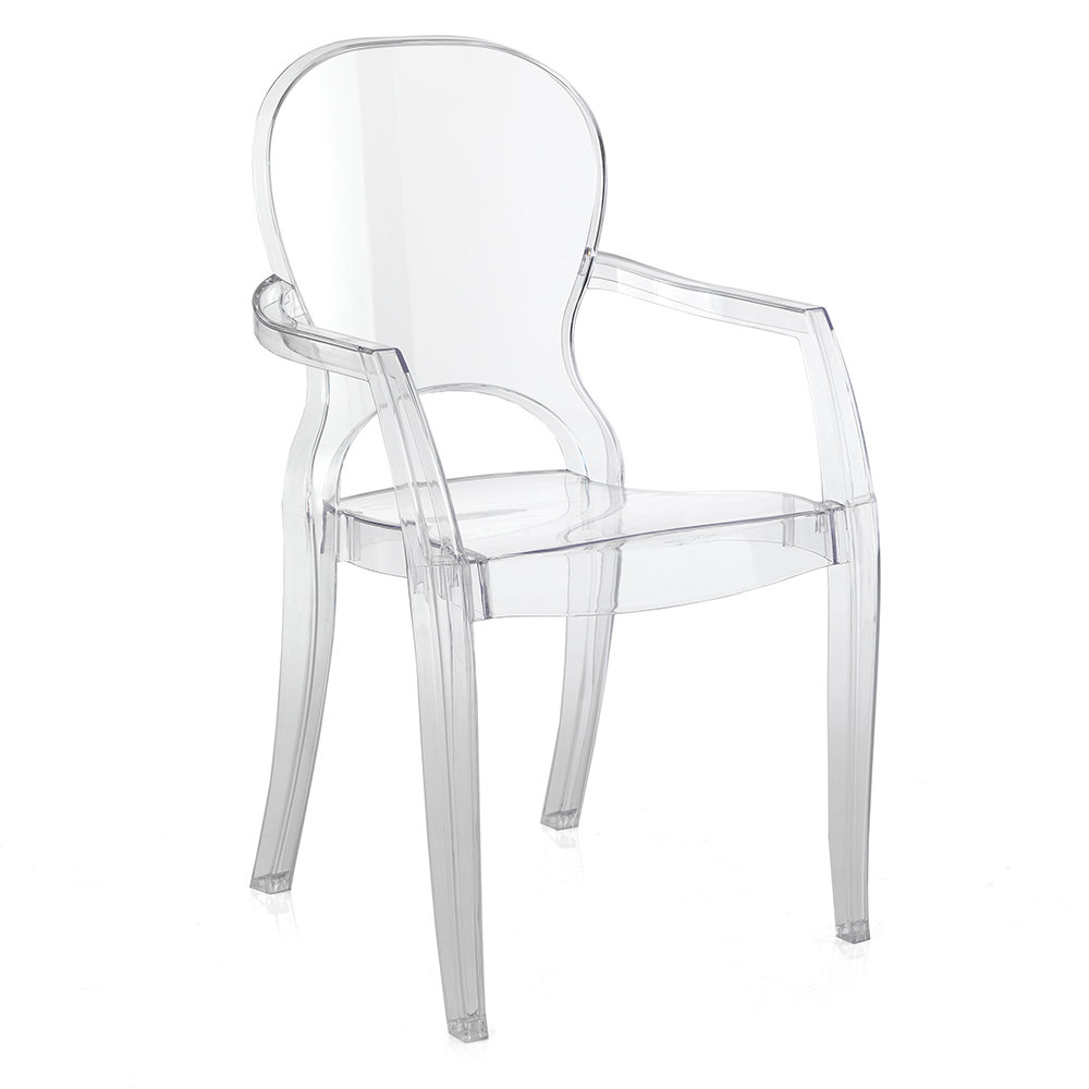 Set 2 sedie in policarbonato trasparente tomasucci black for Sedie in policarbonato