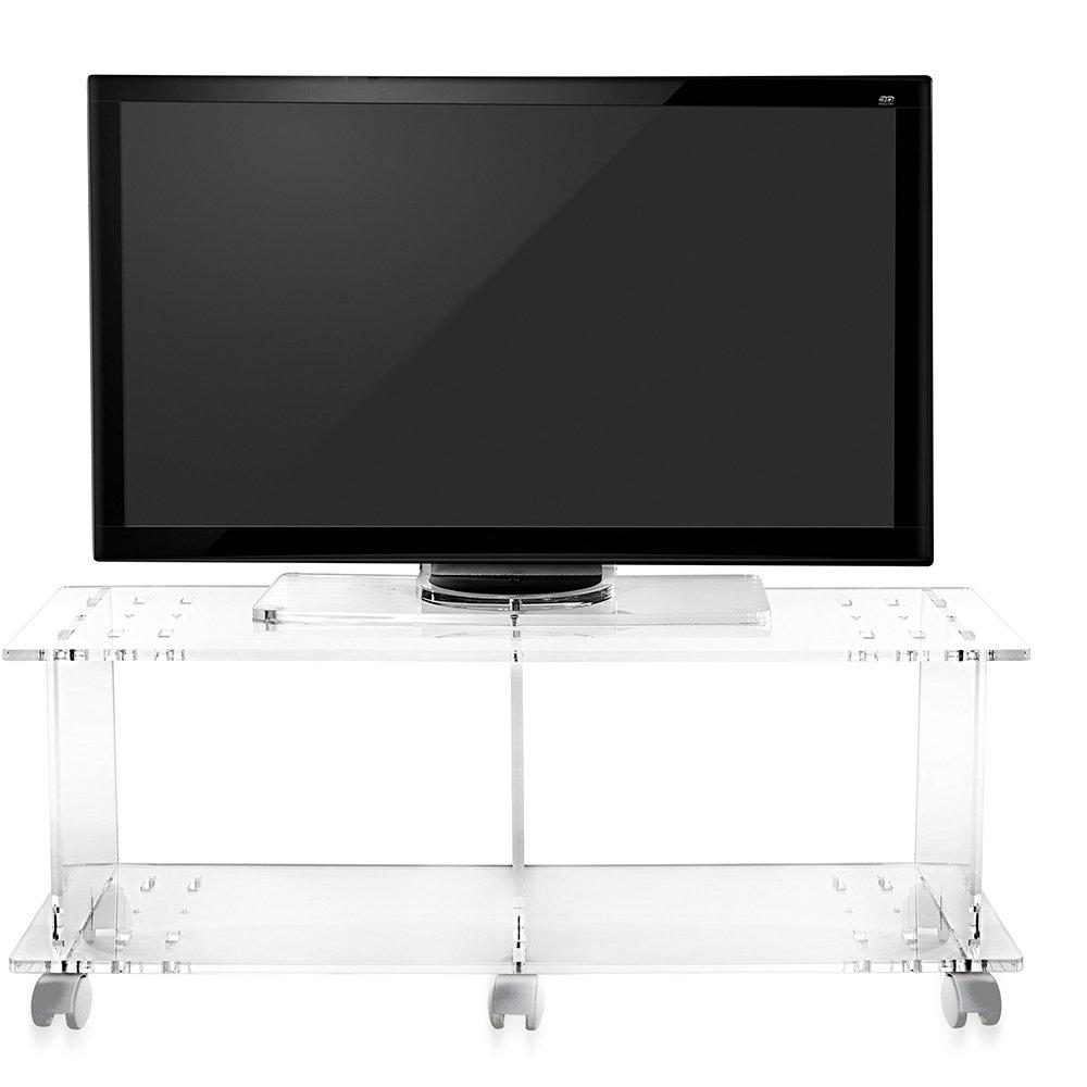Porta tv imago in plexiglass trasparente le trasparenze - Porta tv plexiglass ...