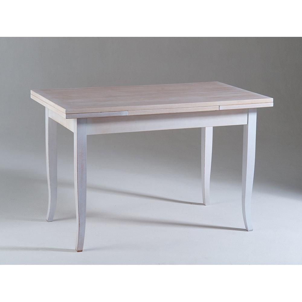 Tavolo allungabile justine bianco e top trasparente - Tavolo trasparente allungabile ...