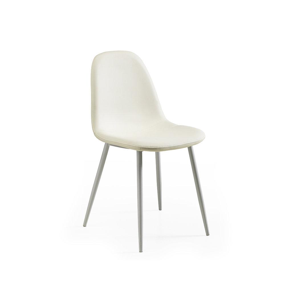 set 4 sedie jos in similpelle bianco design twist home