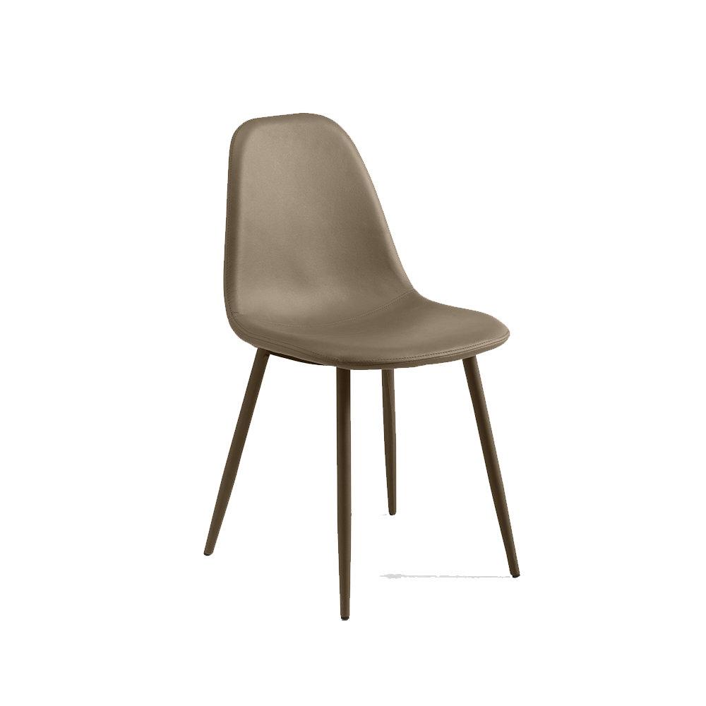 Set 4 sedie jos in similpelle tortora design twist home for Sedie design tortora