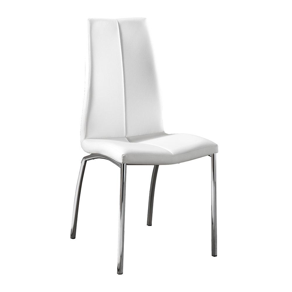 Set da 4 sedie abha in similpelle bianco design twist for Sedie in similpelle