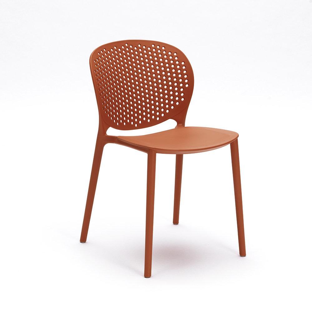 Set 4 sedie gavle arancione design twist home for Sedie design twist