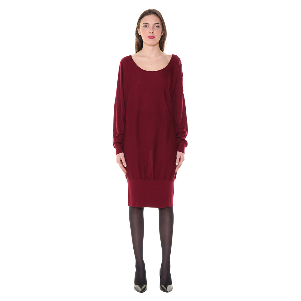 new products 2ec5b c97e1 Maxi maglia/ abito bordeaux - Guess - Acquista su Ventis.