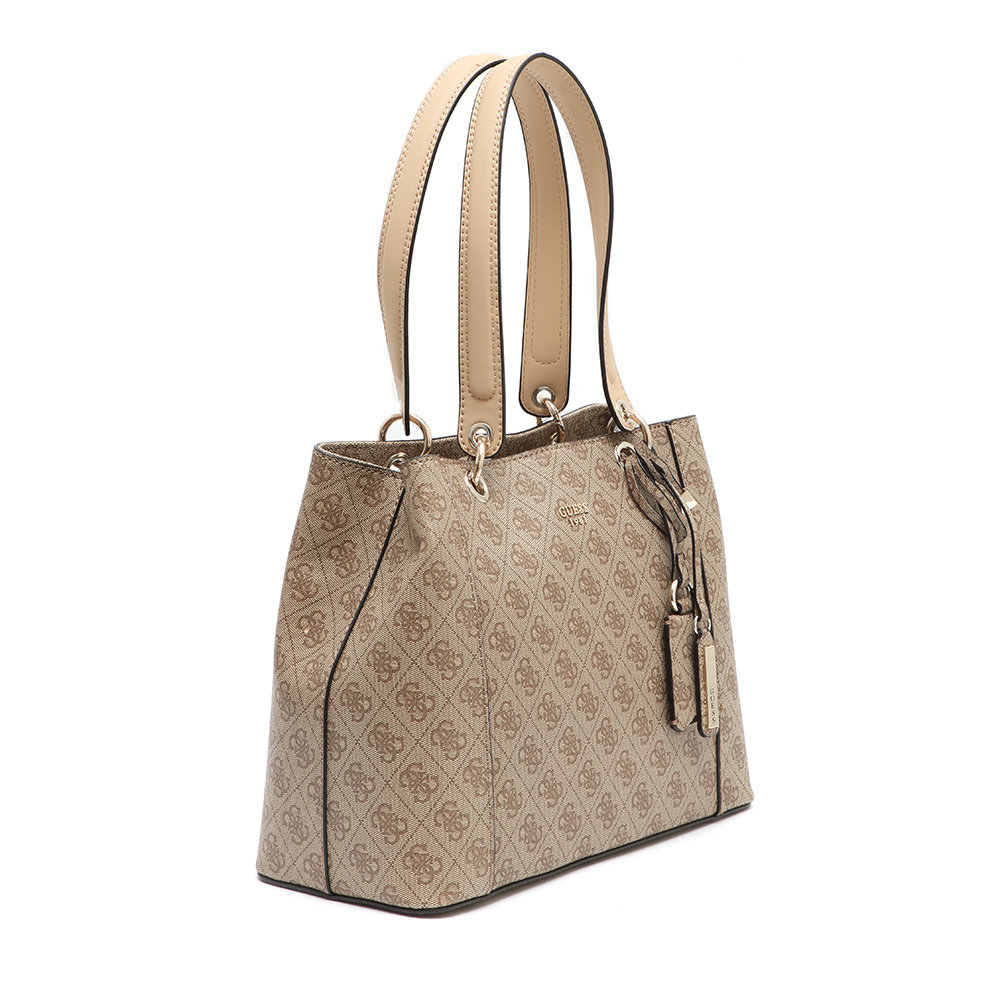 Borsa guess shopper vikky marronerossa scuderi store marroni shopper bag