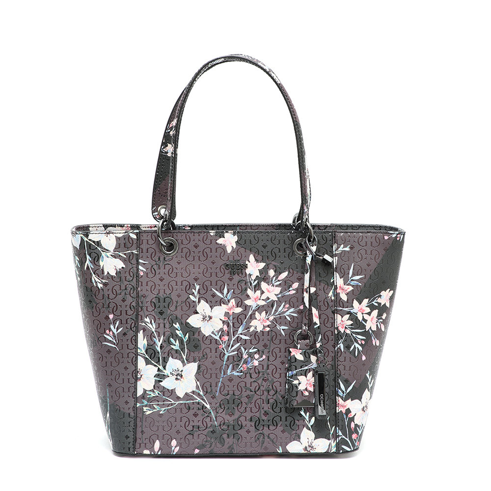 Shopping bag con fiori nera Guess Borse Acquista su Ventis.