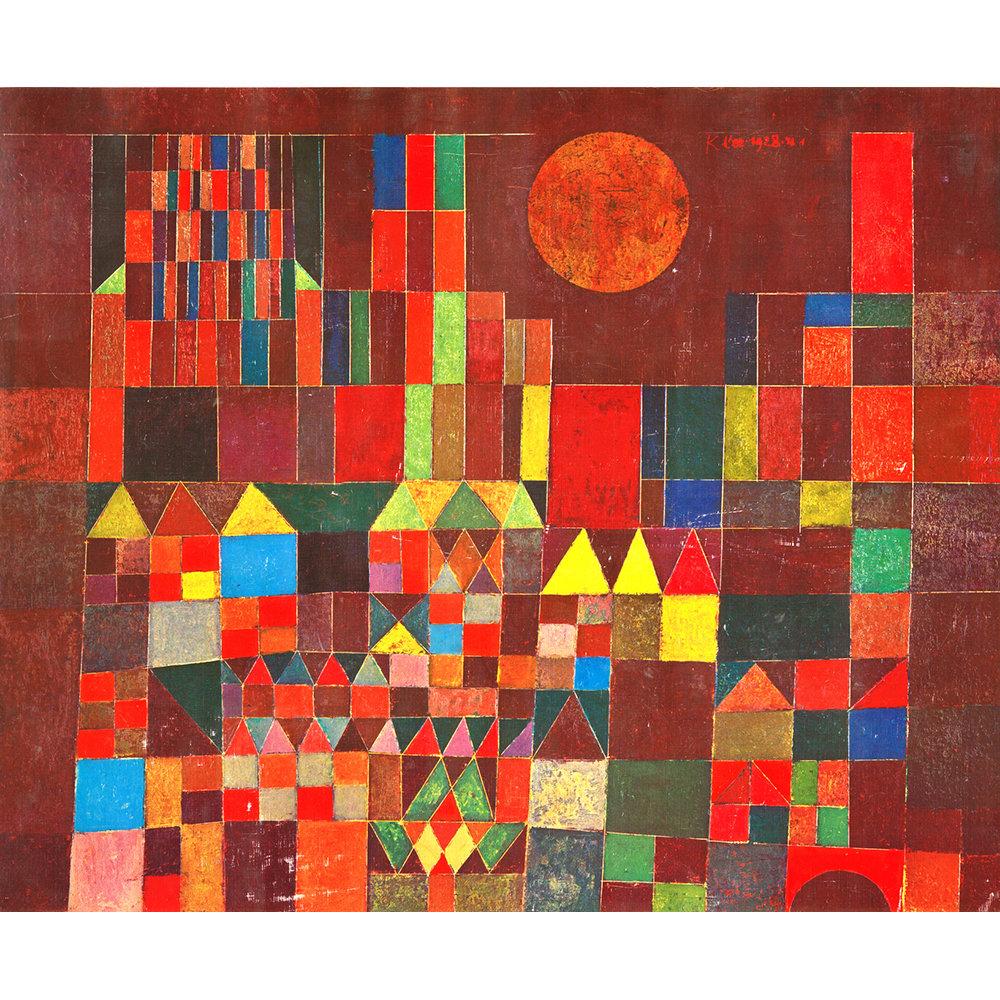 4a8342cbf5 Burg und Sonne (Castello e sole) Stampa su tela 80x100 - Klee ...