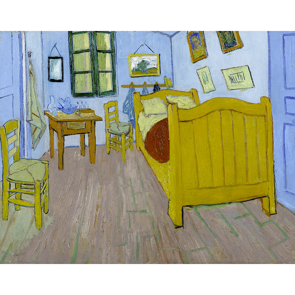 La camera di vincent ad arles stampa su tela 80x100 van gogh legendarte acquista su ventis - La camera da letto van gogh ...