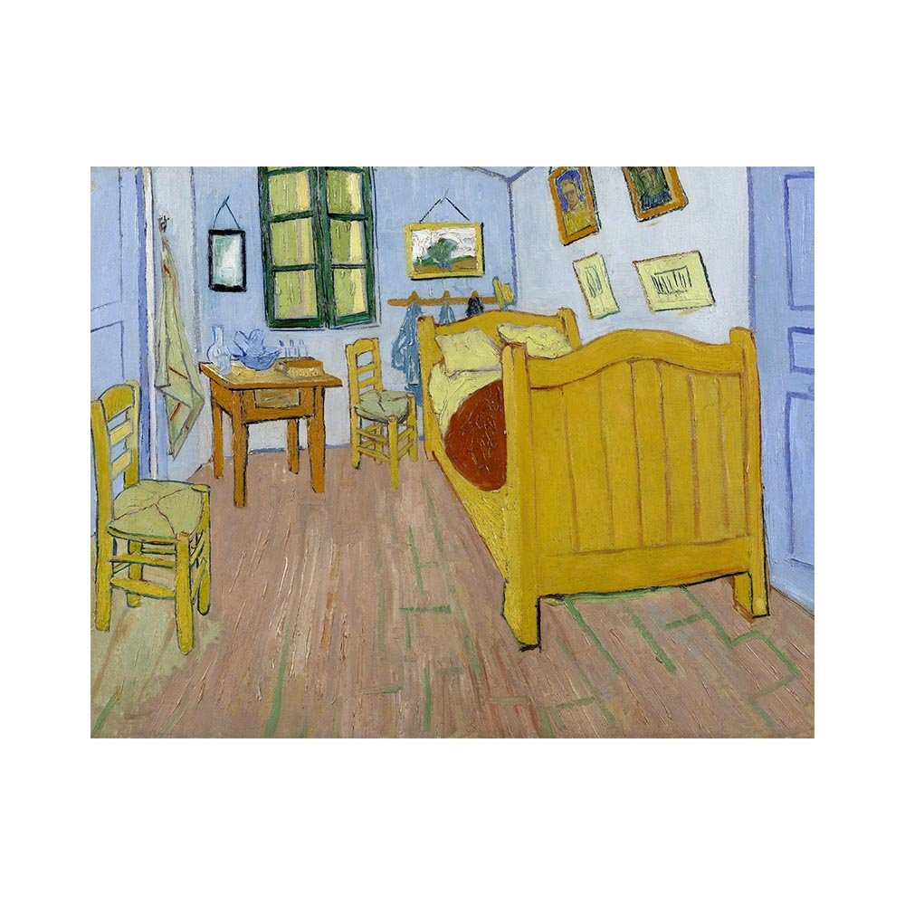 Stampa su tela - Vincent Van Gogh - La camera di Vincent ad ...