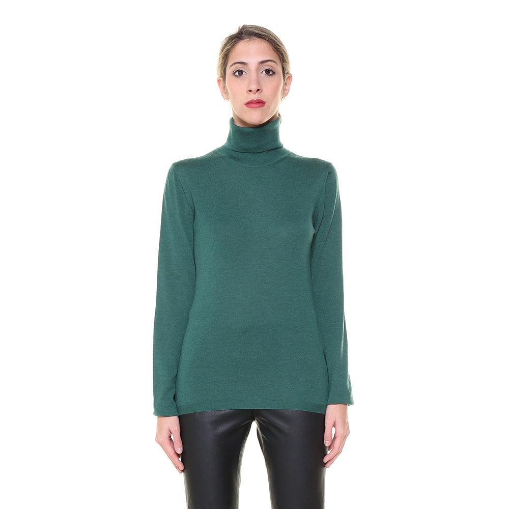 negozio online ineguagliabile nelle prestazioni stile moderno Maglia Malo da donna in cashmere a collo alto verde - Malo Abbigliamento -  Acquista su Ventis.
