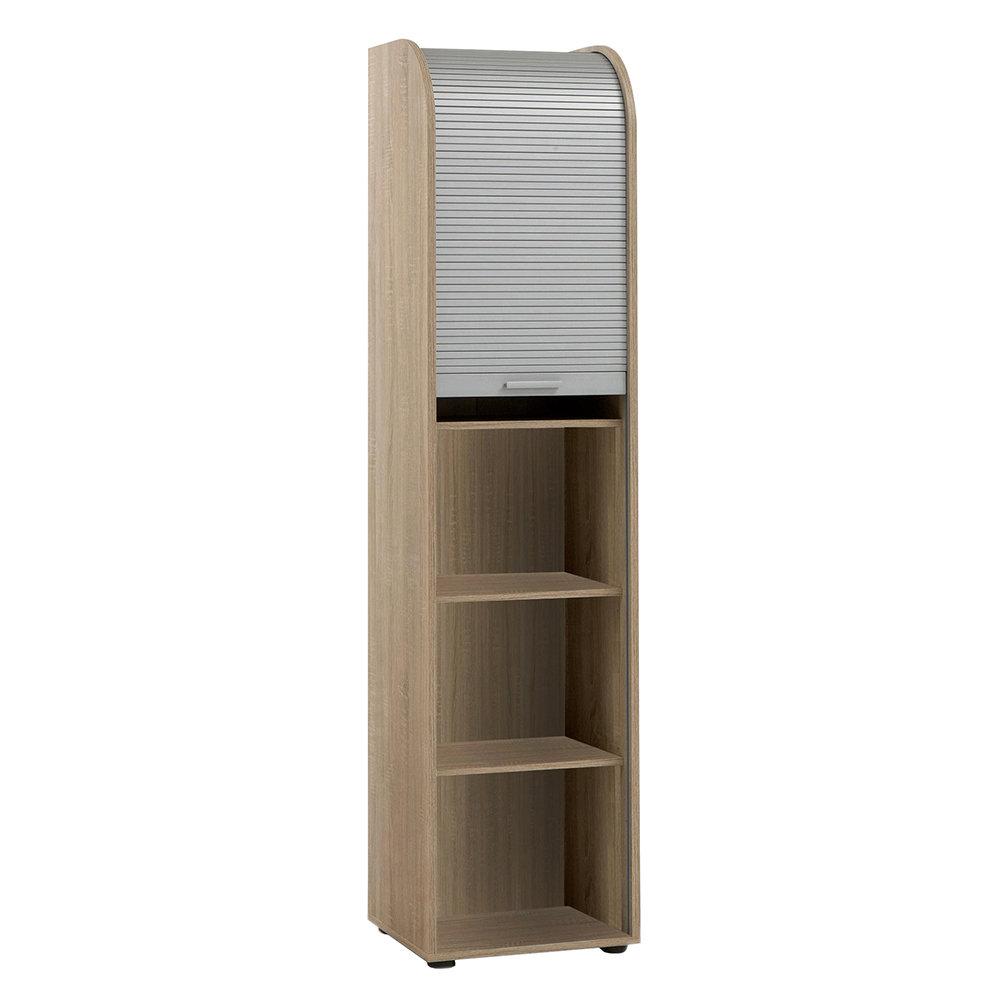 Libreria con porta scorrevole bianco rovere 13 casa - Libreria con porta ...