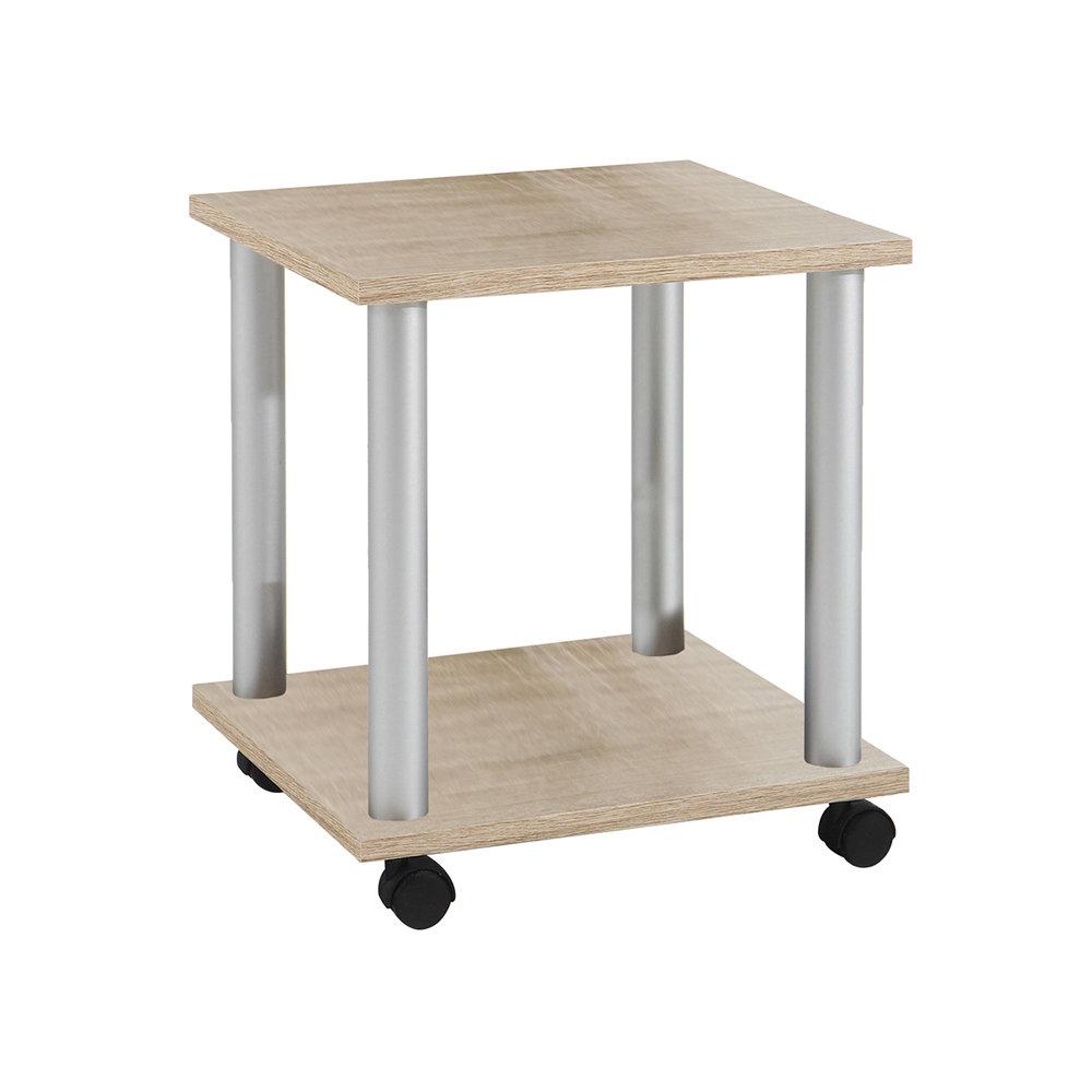 Tavolino Con Le Ruote.Tavolino Stark Con Ruote In Nobilitato Rovere 13 Casa Ufficio