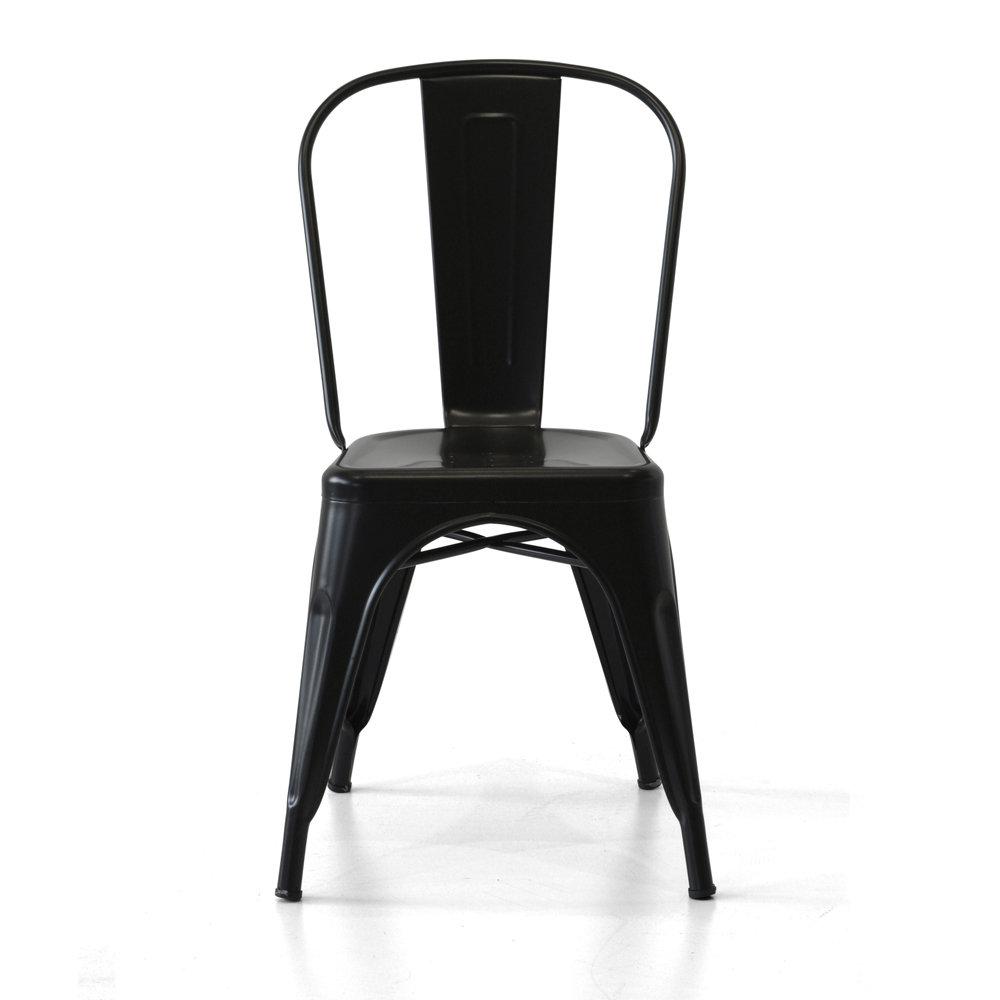 Set 4 sedie industrial metallo nero cribel for Sedie industrial style
