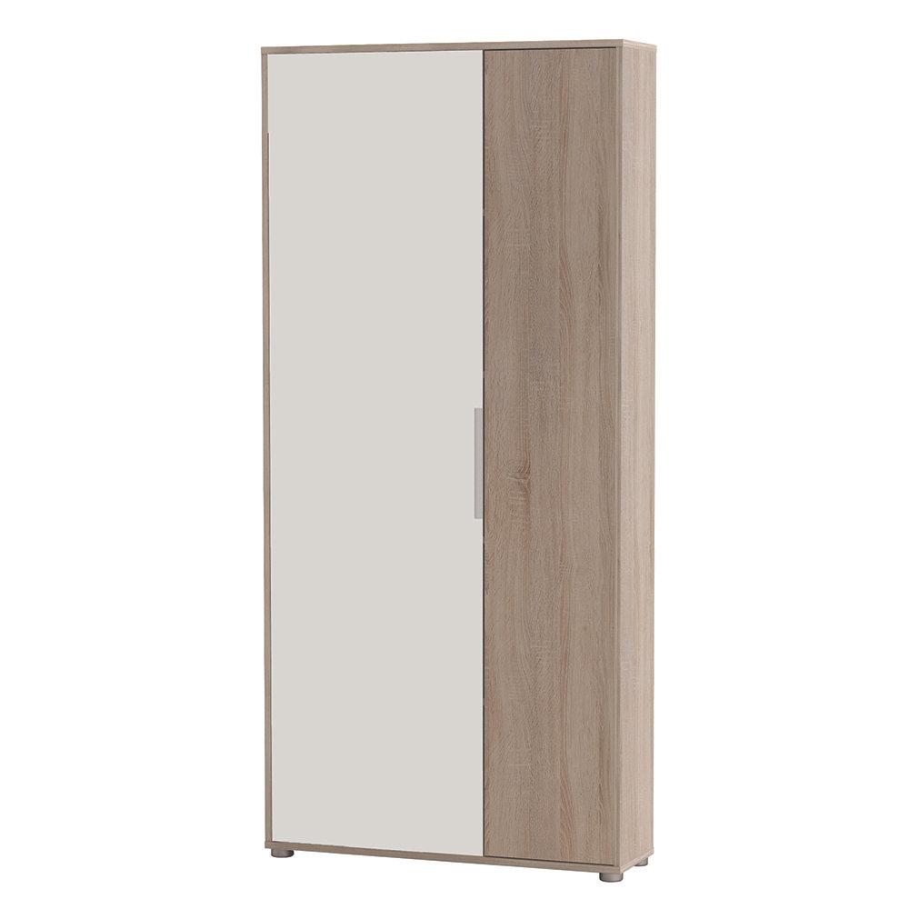 Scarpiera 2 ante, rovere/bianco - Ordine e Design - Acquista su Ventis.