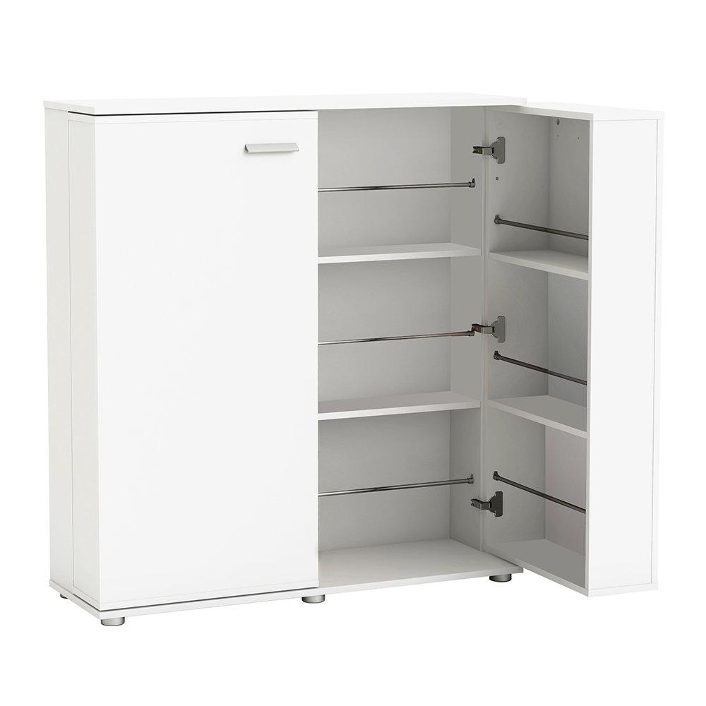 Scarpiera 2 ante, bianco - Ordine e Design - Acquista su Ventis.