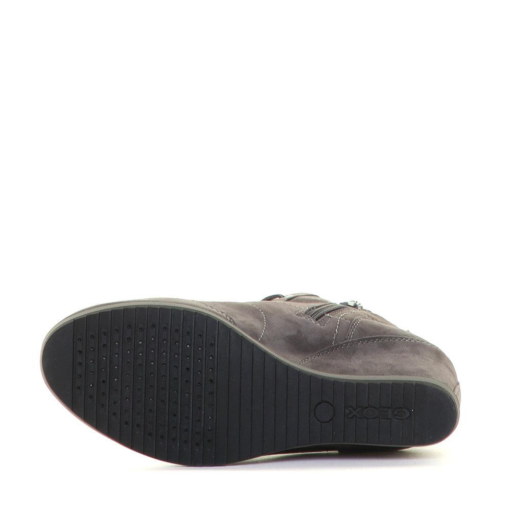 Scuro Scarpe Da Con Alte Zeppa Geox Donna Sneakers Interna Grigie 1gqPCwnx