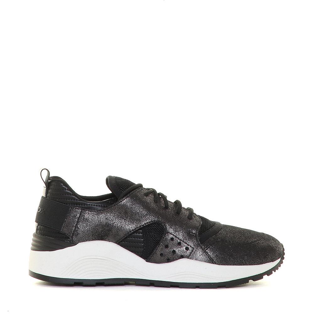 Geox Pelle Scarpe Su Da Donna Nere Acquista Grigie E Sneakers In 06aw4tq