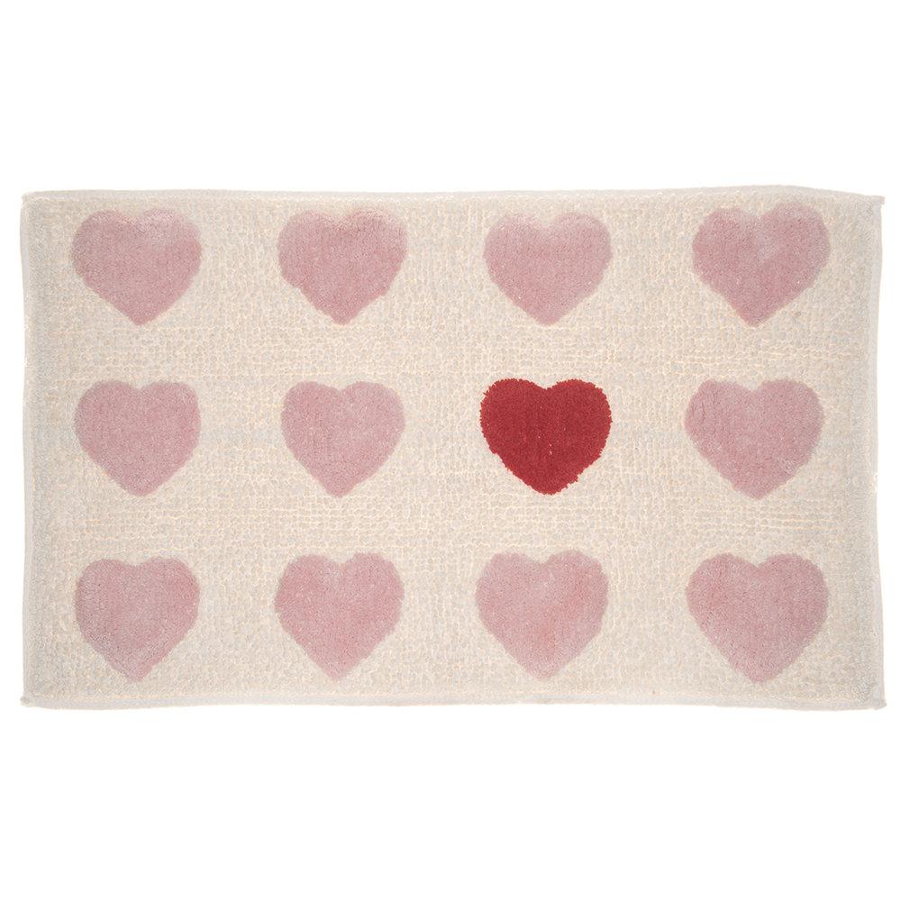 Set 2 tappeti amor cipria 50x150 uno tappeti bagno acquista su ventis - Set tappeti bagno ...