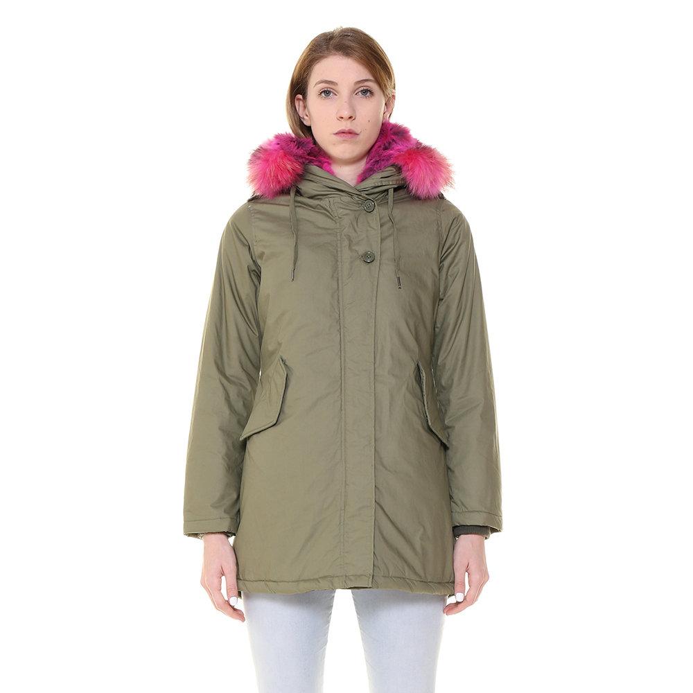 new product e105e 01feb Parka Canadian da donna con pelliccia a contrasto verde militare - Canadian  - Acquista su Ventis.