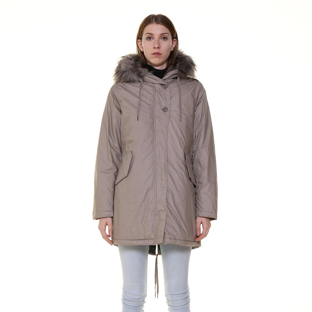 Parka da donna con pelliccia a contrasto grigio - Canadian ... 9a802fcd0d8a