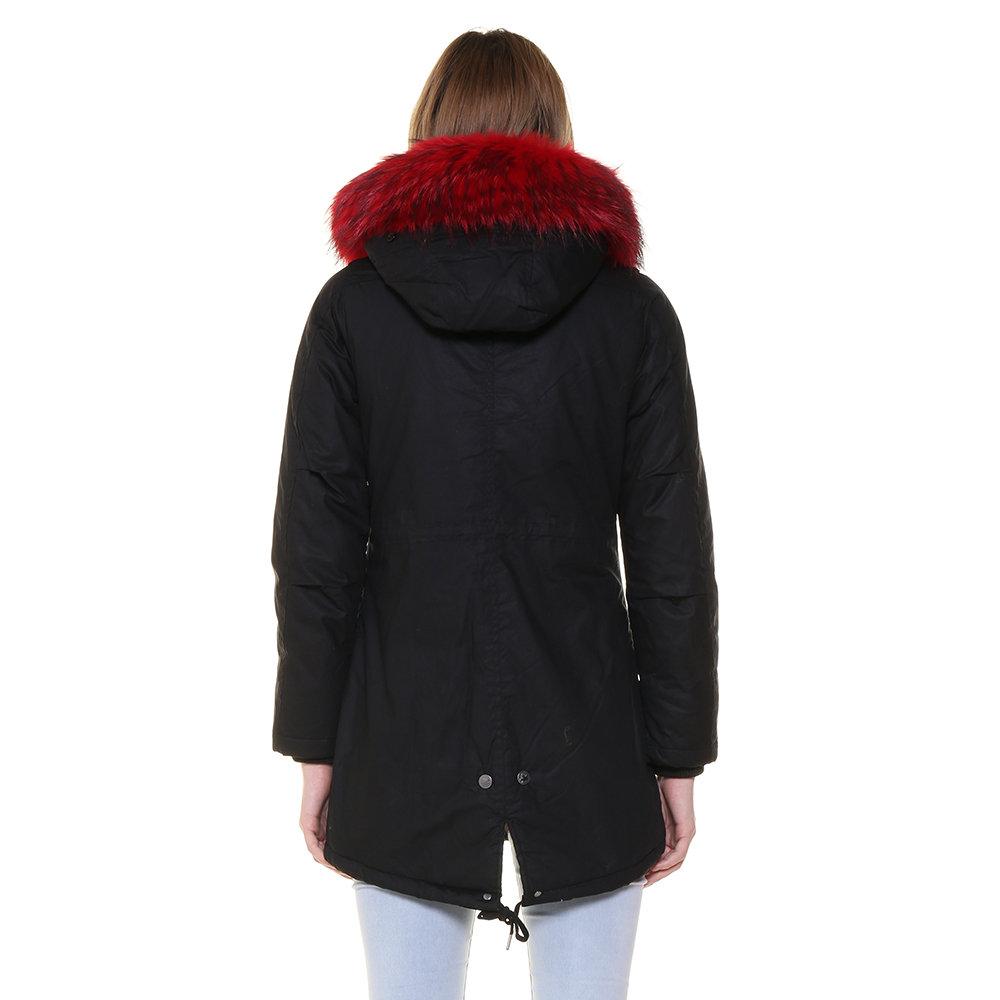 Parka Canadian da donna con pelliccia a contrasto nero Canadian Acquista su Ventis.