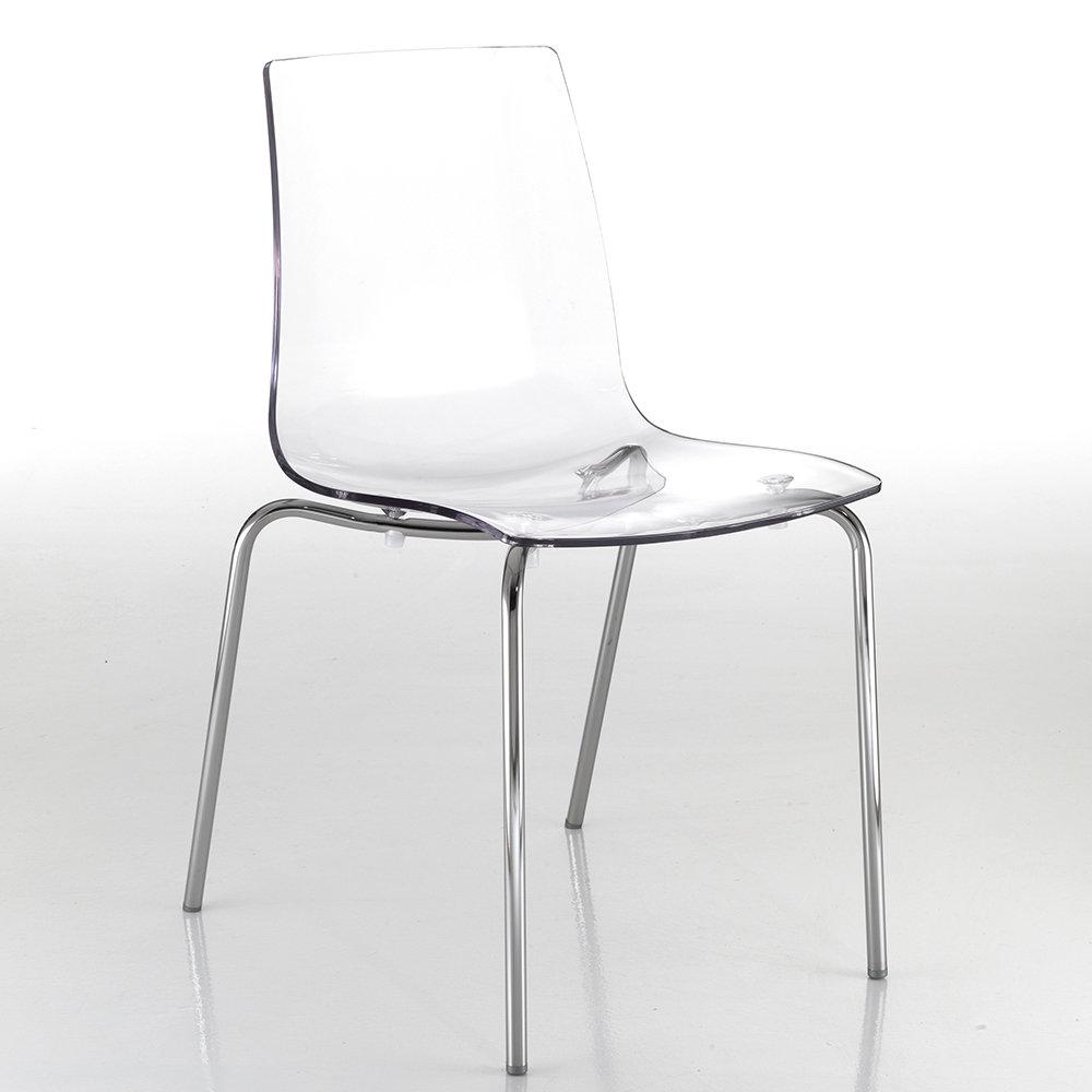 Set 2 sedie vail in policarbonato trasparente tomasucci for Sedie in policarbonato