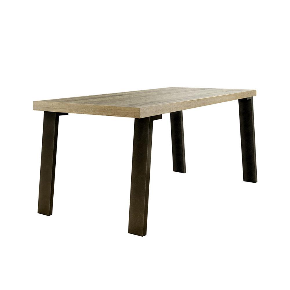 Tavolo con gambe in metallo, rovere - Contemporary Home TFT ...