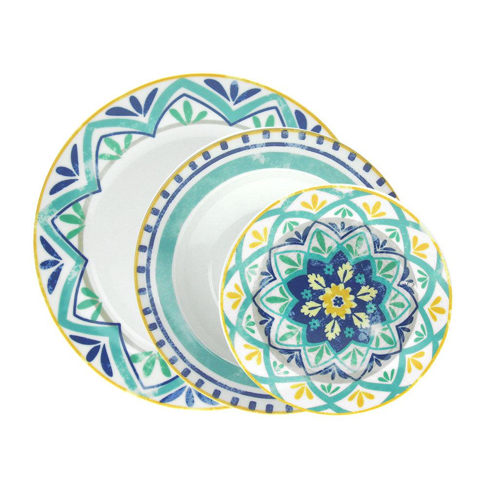 Set 18 piatti olimpia alhambra tognana porcellana - Piatti colorati ikea ...