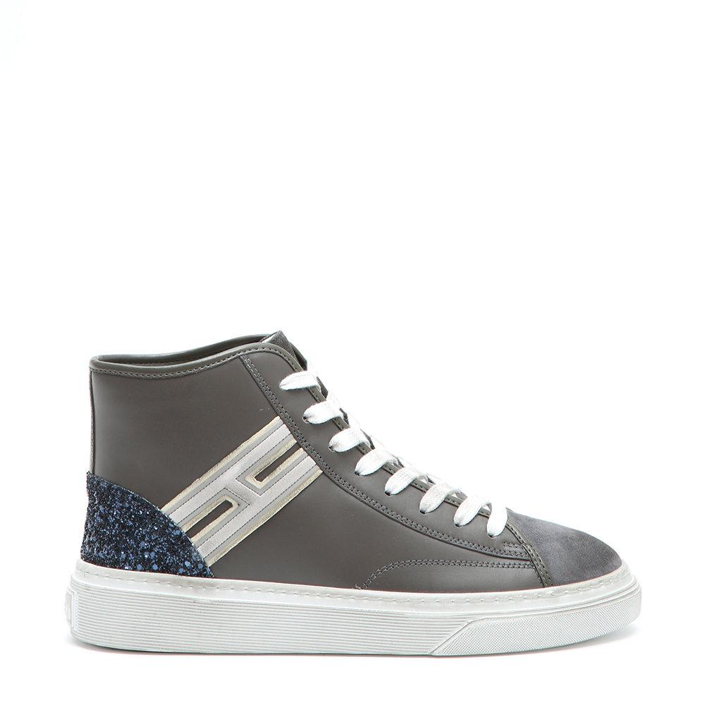7d2ae05d2efd8 Sneakers alte da donna Top flock grigie - Hogan - Acquista su Ventis.