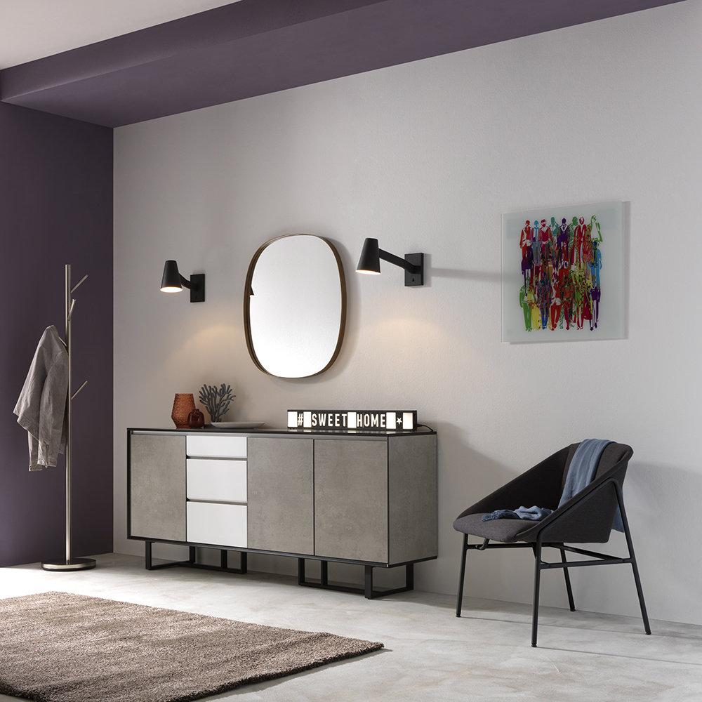Lampada da tavolo parete lensk nero twist design - Tavolo da parete ...