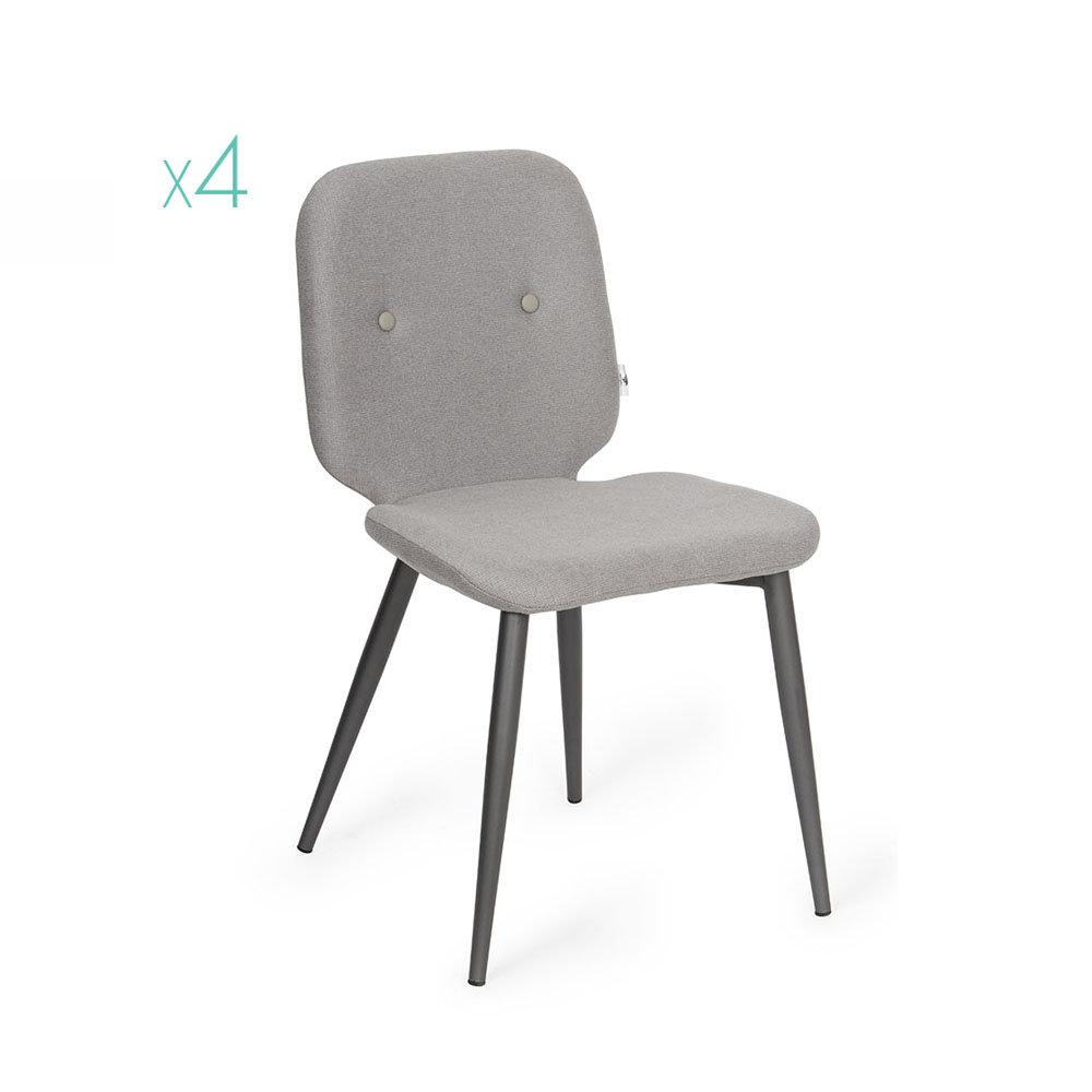 Set 4 sedie tabou grigio scuro grigio chiaro twist for Sedie design grigie