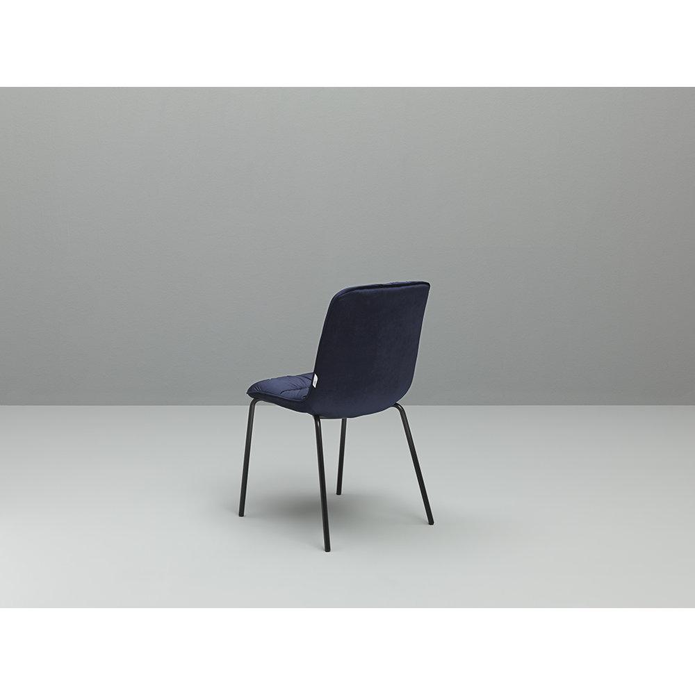 Twist design mineral set 4 sedie cerlak nero blu for Design twist sedie