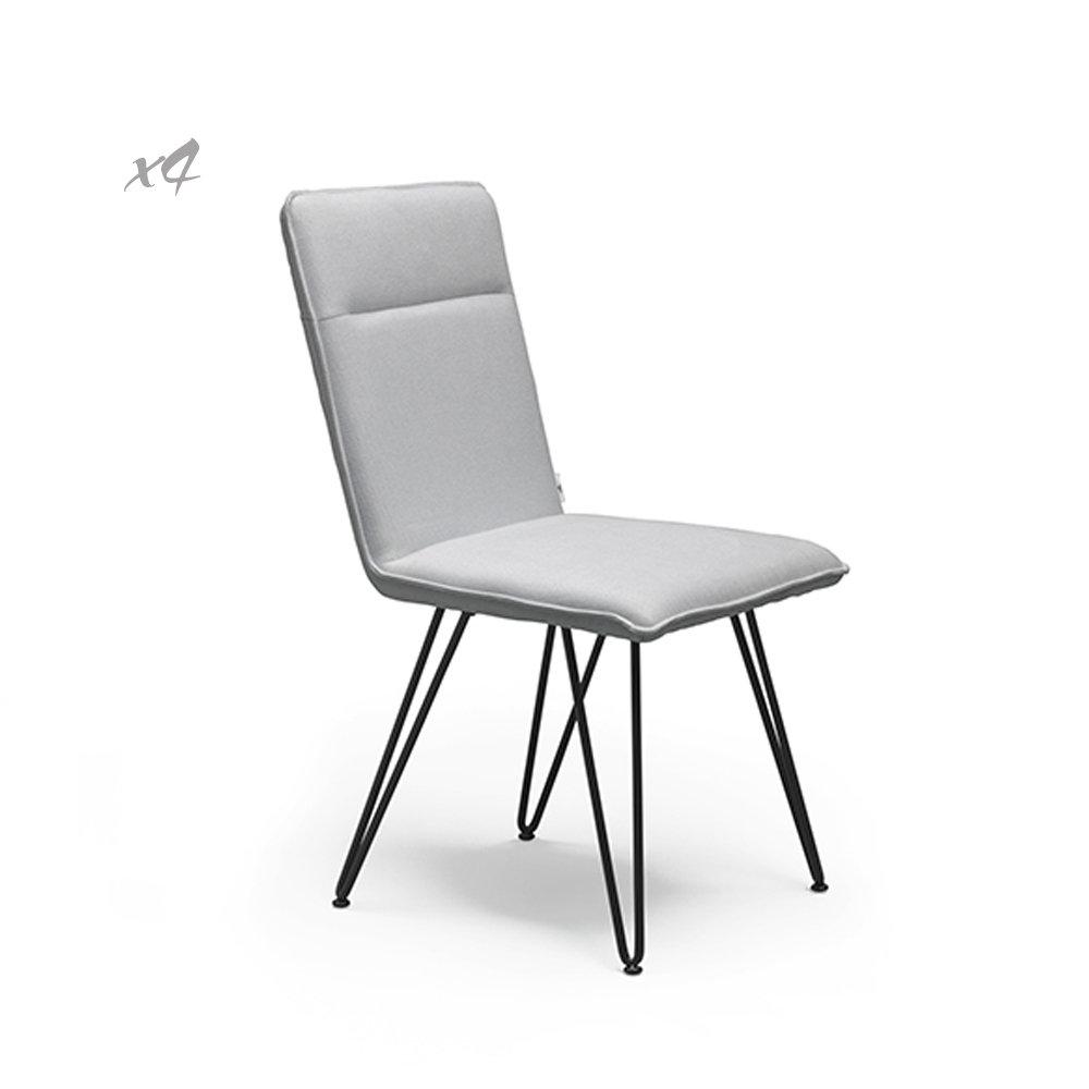 Set 4 sedie elice nero bianco twist design mineral for Design twist sedie