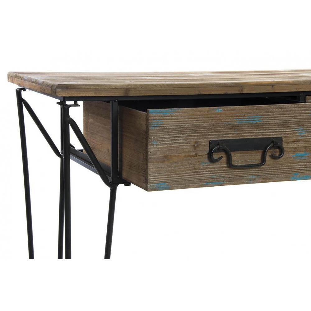 Consolle in legno e metallo industrial style acquista for Consolle metallo