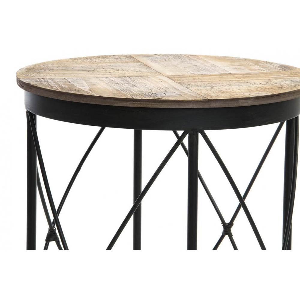 Set 3 tavolini in legno e metallo industrial style for Tavolini industrial