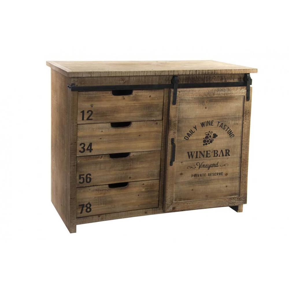 Como in legno naturale - Industrial Style - Acquista su Ventis.