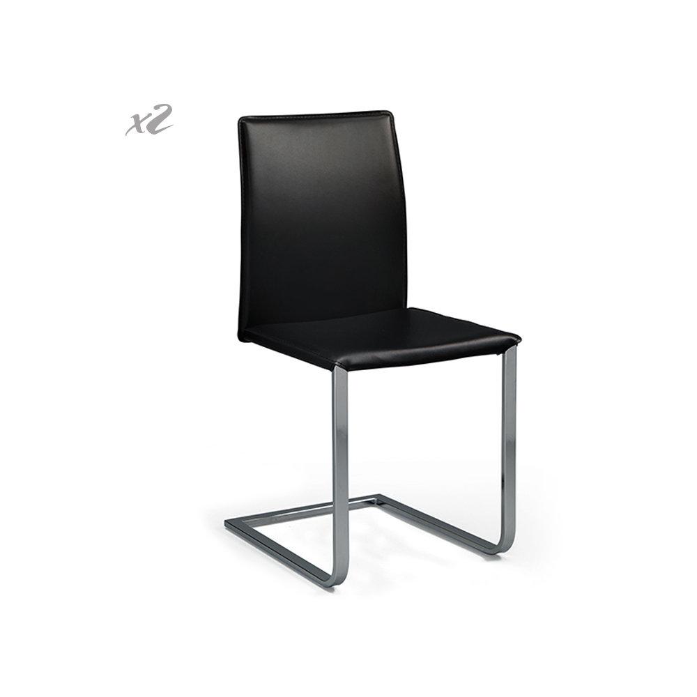 Set 2 sedie safia nero twist design black white for Sedie design twist