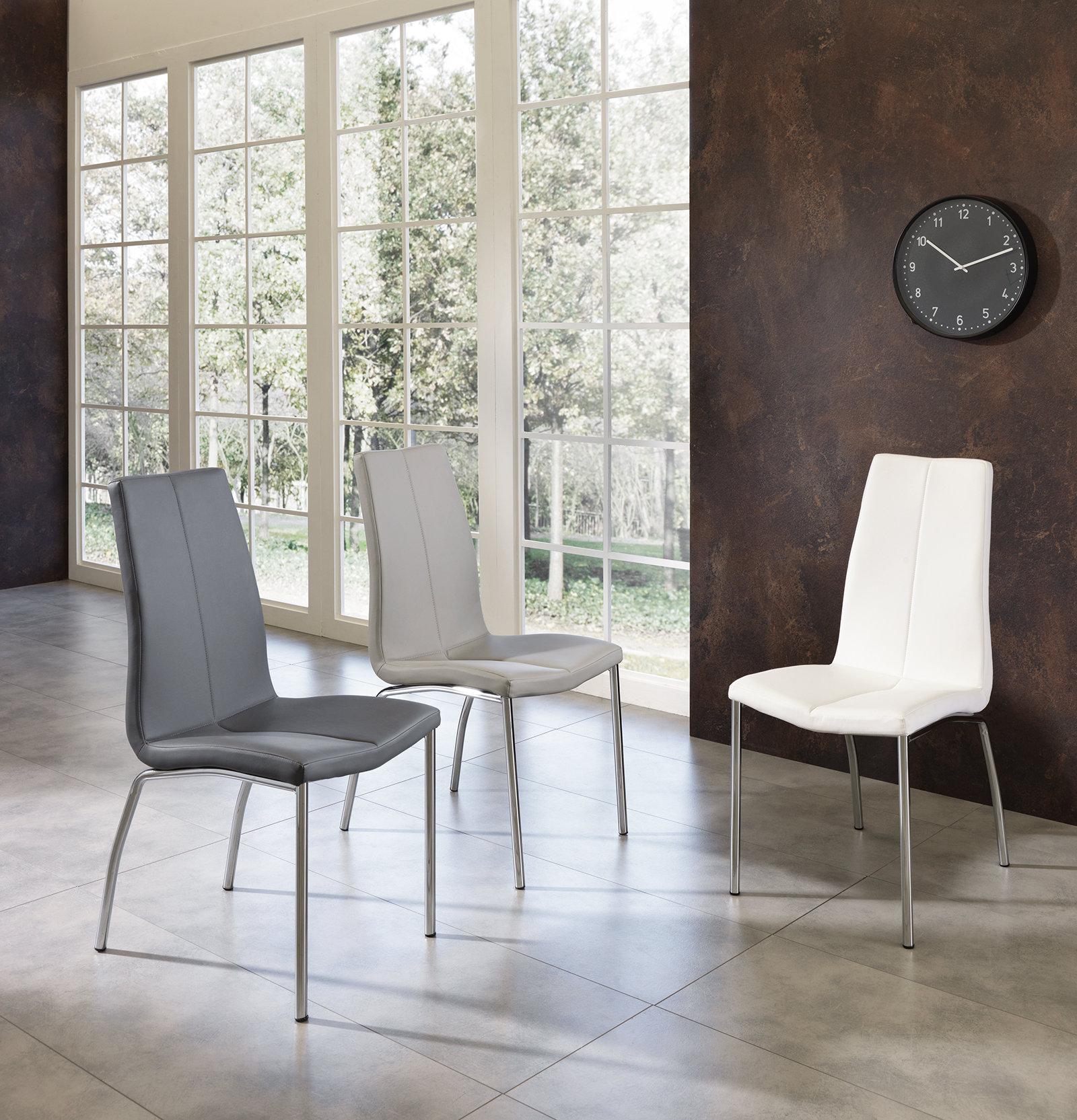 Set 4 sedie abha bianco twist design black white for Sedie design twist